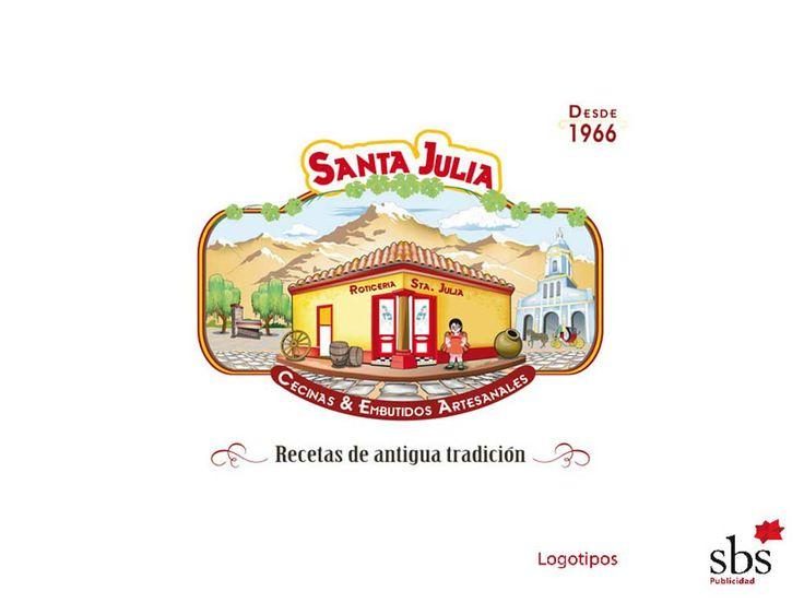 SBS Publicidad. Logotipo Cecinas Santa Julia.