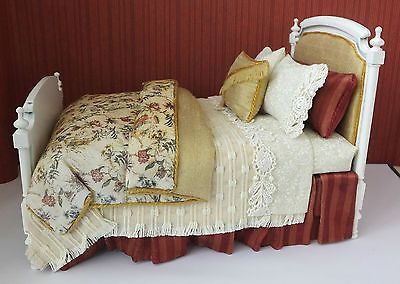 dolls house miniatures 112 scale toile bed by lorraine scuderi