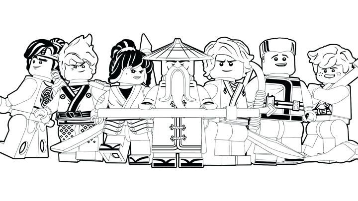 Ninjago Coloring Pages For Adults The Ninjas Kai Jay Zane Nya