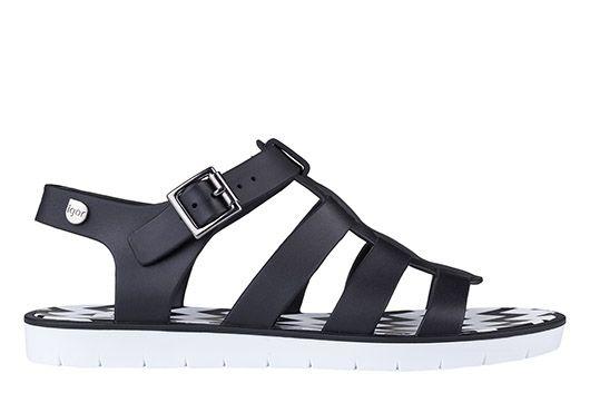 sandalias para mujer, Adriana b/n Negro