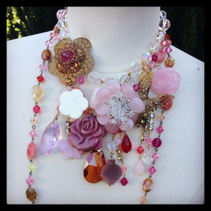 Rose Quartz, SoniaM Designs, statement accessory, statement necklace