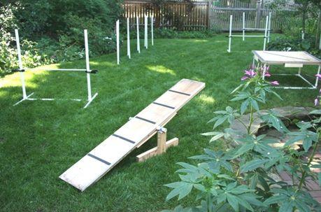 Some simple DIY agility equipment