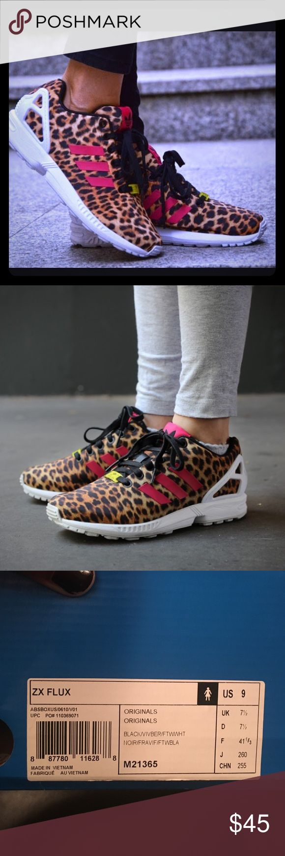 Adidas ZX FLUX Leopard Adidas ZX FLUX.. Great pair of comfy and stylish shoes. Adidas Shoes Athletic Shoes