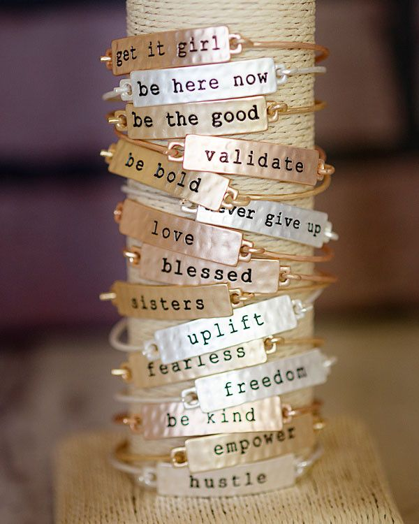 Rise Up Stamped Tribe Bracelet, , Jewelry -- Cents Of Style - 2