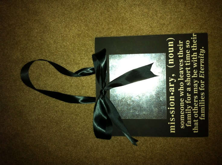 LDS Missionary Definition with ribbon and metal by signsbycolie
