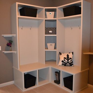 27 Best Small Corner Mudroom Images On Pinterest Laundry