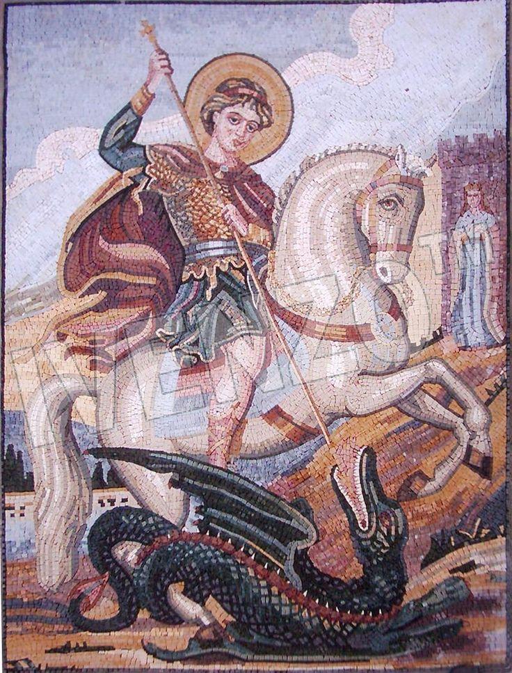Mosaik FK069 Heiliger Georg