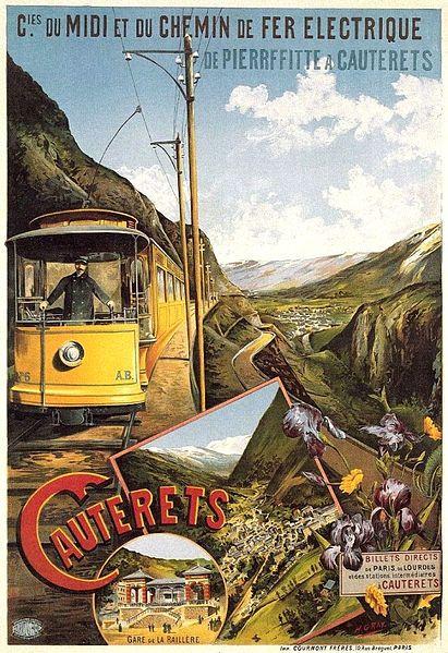 chemins de fer du midi - chemin de fer électrique - Cauterets - illustration de Henri Gray