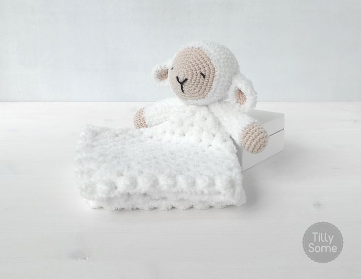 Sleepy Sheep Lovey | Comforter | Baby Blanket | Blankey | Security Blanket - PDF Crochet Pattern by TillySome on Etsy https://www.etsy.com/ca/listing/295032353/sleepy-sheep-lovey-comforter-baby