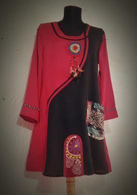 red-black tunic