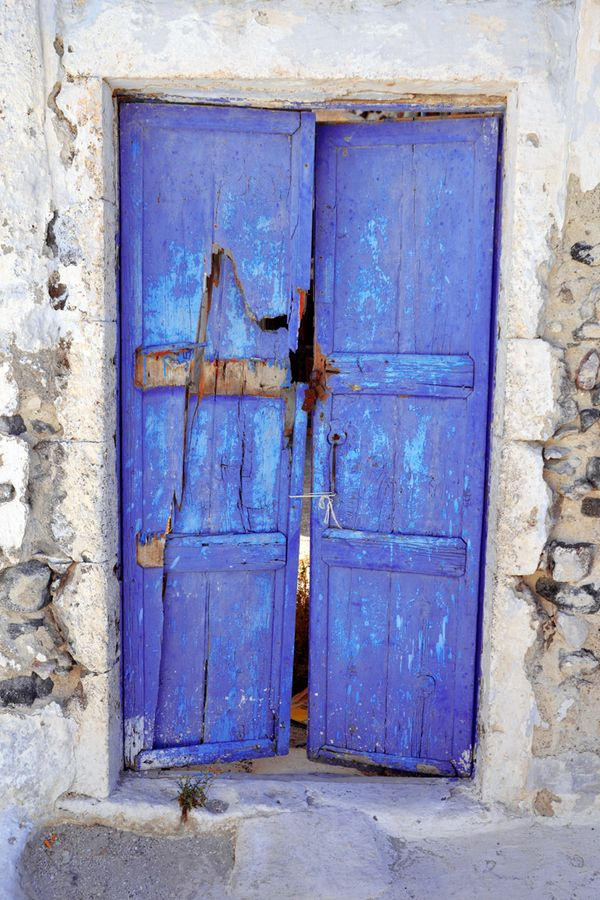 A Door in Pyrgos, Santorini