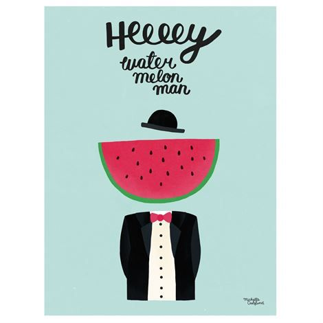 Michelle Carlslund poster liten - Water Melon Man - Michelle Carlslund Illustration