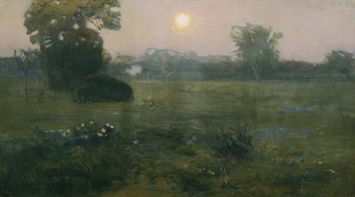 Jan Grzegorz Stanislawski, Mondaufgang, um 1900, Öl auf Leinwand, 85 x 152 cm, Belvedere, Wien, Inv.-Nr. 517\nBelvedere, Wien