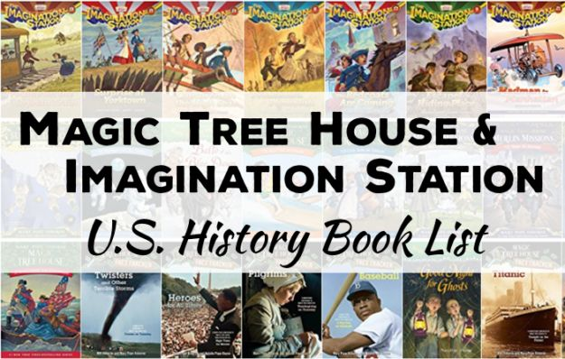 CC Cycle 3 | Magic Tree House & Imagination Station Book List for U.S. History