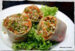 popiah / fresh spring roll with julienned bamboo shoots!
