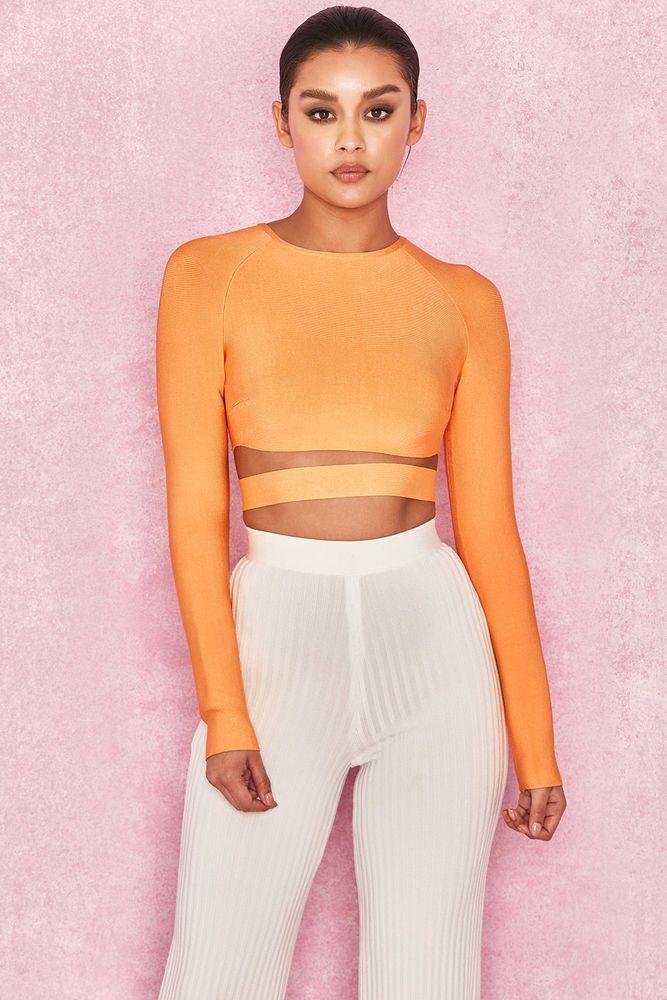 faf2f6a2ac895 HOUSE OF CB  Talika  Neon Orange Bandage Crop Top S 8   10 SJ 2050  fashion   clothing  shoes  accessories  womensclothing  tops (ebay link)