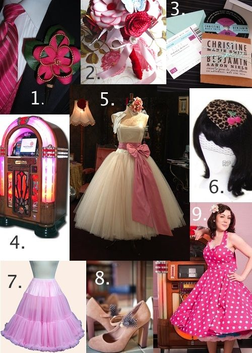 Pink Rockabilly Wedding Ideas