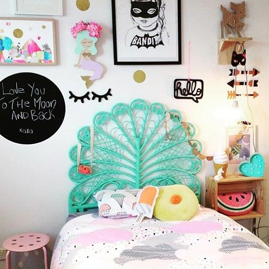 REGRAM such a cool bedroom! Thanks @pretty.in.pine I spy my ice cream pillow case too!