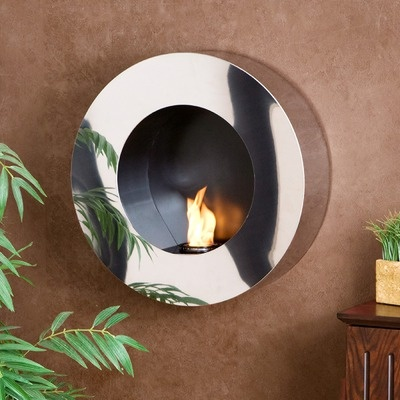 Wildon Home Hillside Round Wall Mount  fireplace
