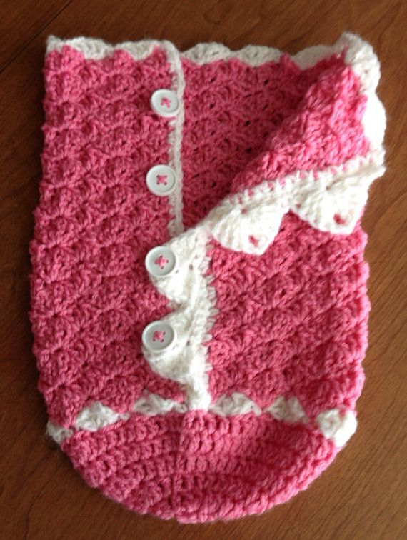 Snuggly Crochet Baby Shell Stitch Cocoon on Etsy, $15.00
