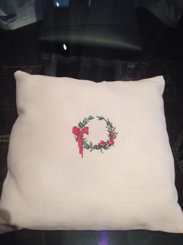 CHRISTMAS PILLOW   #handmade #crossstitch #christamas #gift