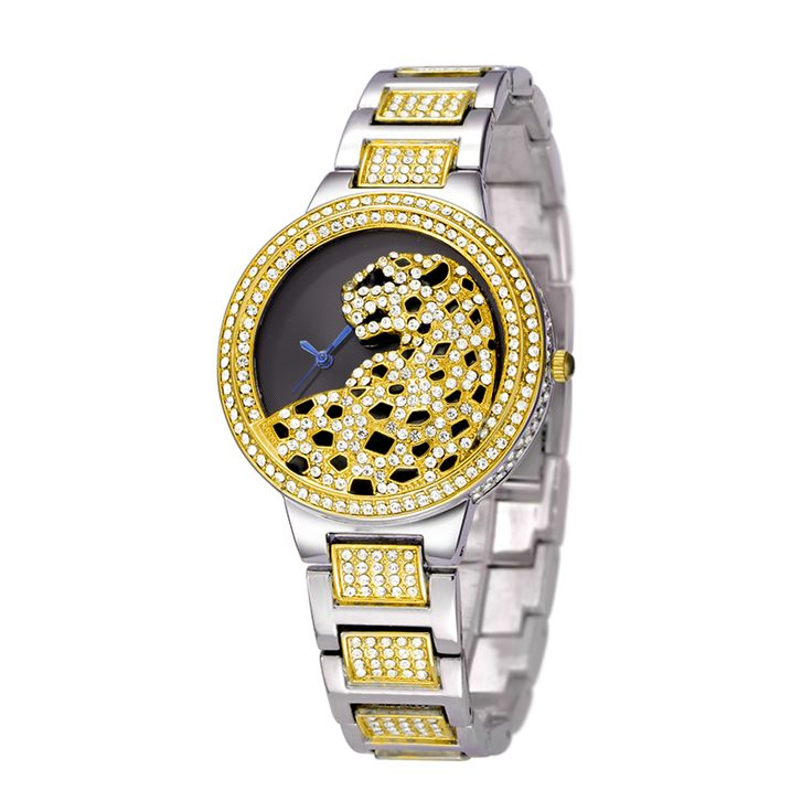 Belbi Women Watch Ladies Fashion Steel Quartz Watches Dress Quartz Watch Rhinestone Leopard Dial Gold Luxury Wristwatch Relojes-in Women's Watches from Watches on Aliexpress.com | Alibaba Group