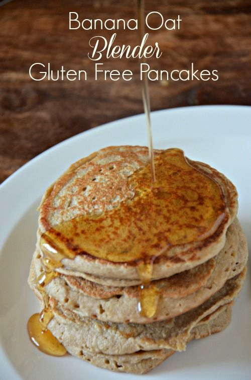 Banana Oat Blender Gluten Free Pancakes are dairy free too! These are fluffy, delicious and you'd never know their good for you!! mountainmamacooks.com