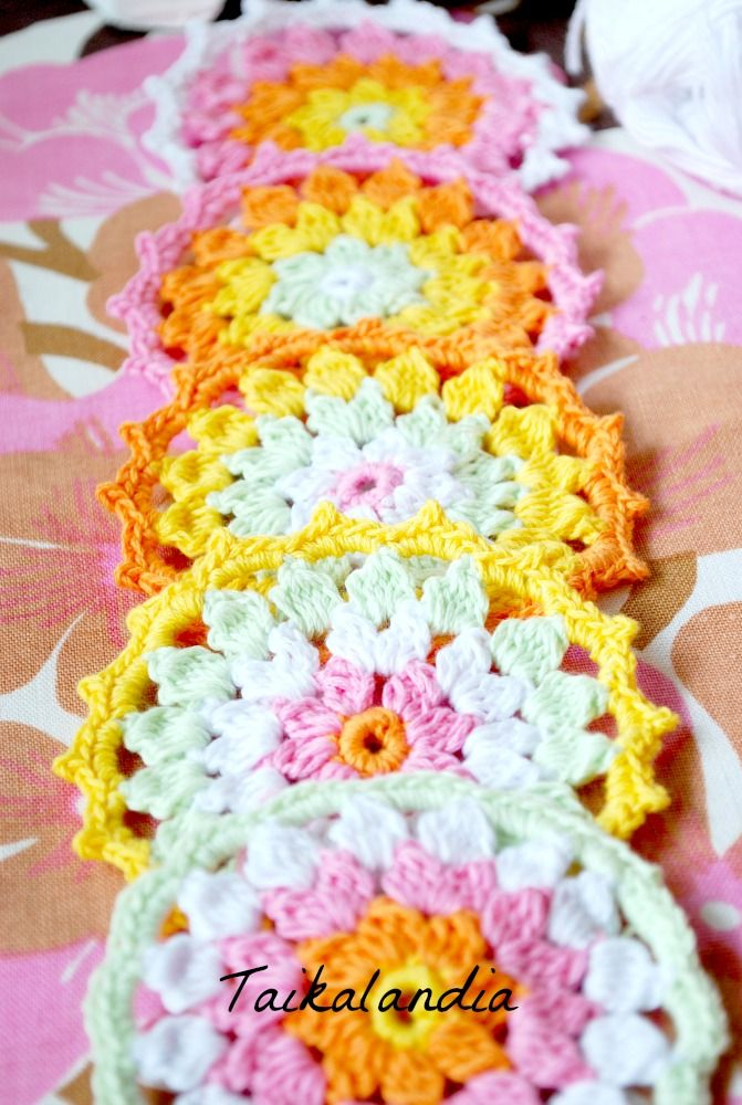 I just love these colors! Lovely pastel colors.  #pastelcolors #crochet #crocheting #brightcolors #colorfulcrochet #crochetlove #coaster