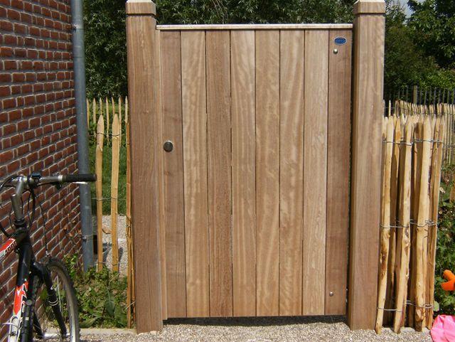 Houten poortje garden pinterest poorten houten poorten en tuin - Scheiding houten ...
