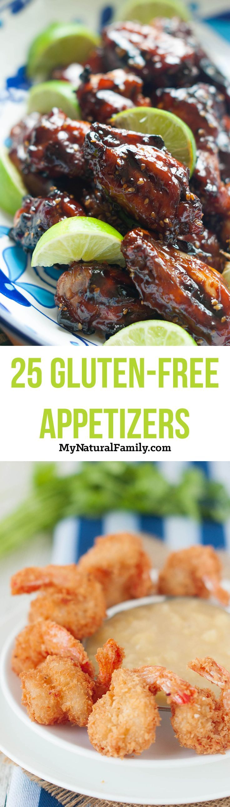 25 Gluten Free Appetizer Recipes - I love this list cause I can make food I can eat at parties and other people won't ask questions about why I'm not eating.