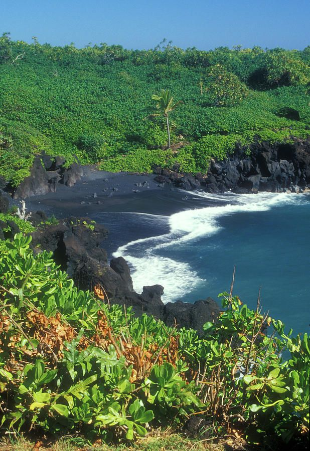 Black Sand Beach Hana Maui Hawaii. Maui. Wai'anapanapa State Park, Maui - I can't believe Tim has never been to Maui!  Must take him.  Also love black sand beaches.