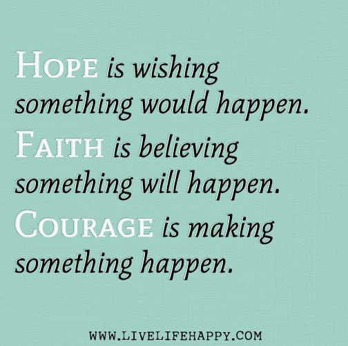 Image result for hope courage and faith quotes