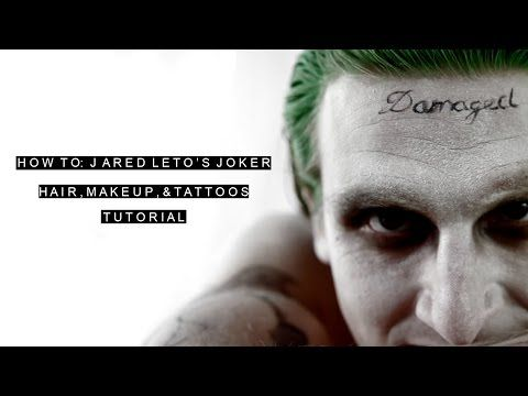 DIY Jared Leto Joker Makeup Tutorial | Suicide Squad | How To: Paint Tattoos and Hair - YouTube