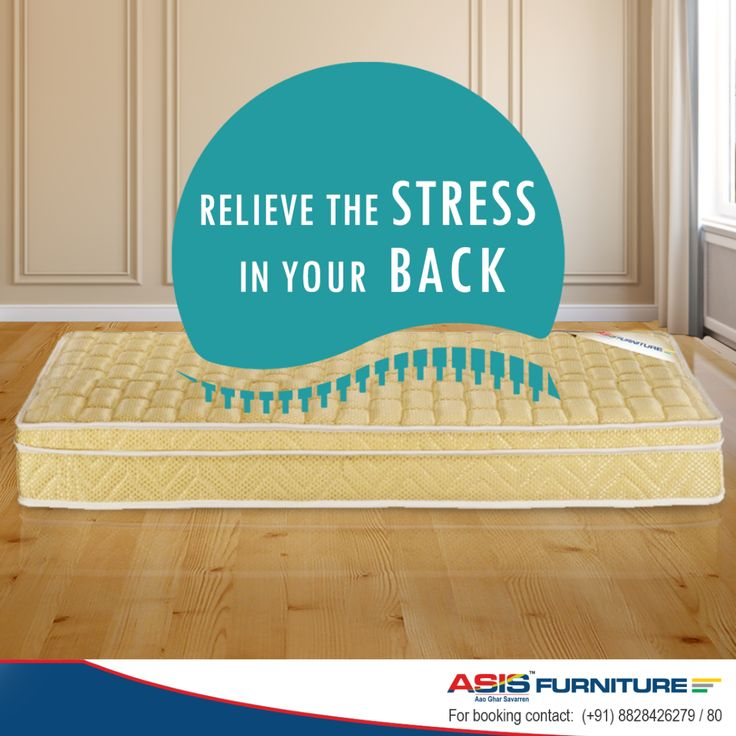 Do you feel your back aching after sleeping? Try the ASIS Comfort foam mattress and relieve the stress in your back.  http://bit.ly/1S0R7Rk