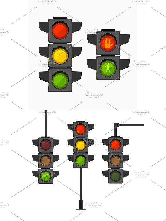 Cartoon Traffic Light Different Type Traffic Light Stop Light Drawing For Kids