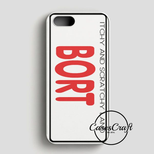 Bort License Plate Cover iPhone SE Case | casescraft