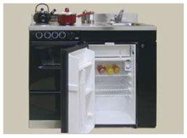 mini oven, sink, fridge and stove. Perfect.