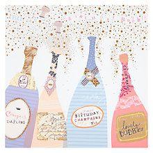 Buy Woodmansterne Champagne Bottles Birthday Card Online at johnlewis.com