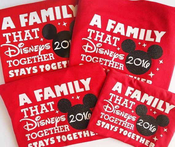Una familia Disneys juntas permanece juntos  camisas familia