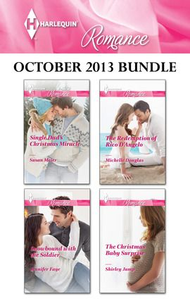 Harlequin Romance brings you four new titles for one great price, available now for a limited time only from October 1 to October 31! Experience the rush of falling in love! This Harlequin Romance bundle includes  Single Dad's Christmas Miracle  by Susan Meier,  Snowbound with the Soldier  by Jennifer Faye,  The Redemption of Rico D'Angelo  by Michelle Douglas and  The Christmas Baby  by Shirley Jump.  Look for 4 compelling new stories every month from Harlequin Romance!