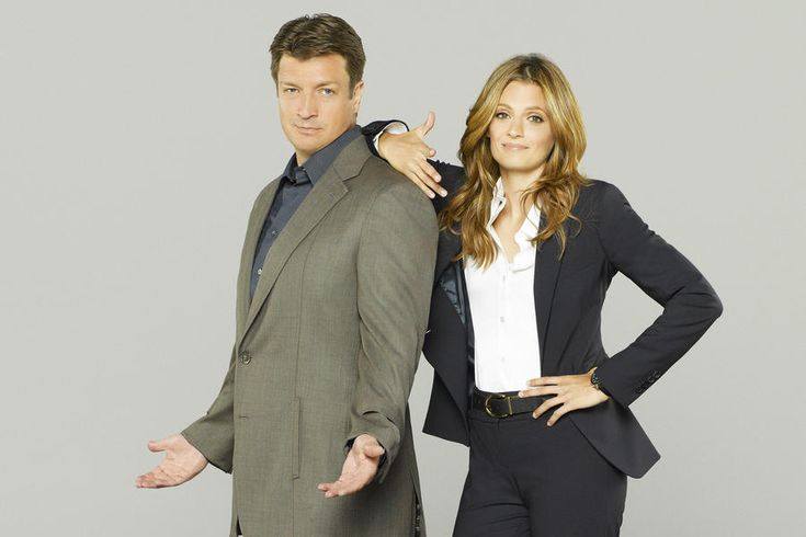 Nathan Fillion and Stana Katic, Castle