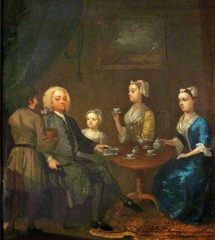 Unknown 18th-Century British Artist - A Tea Party
