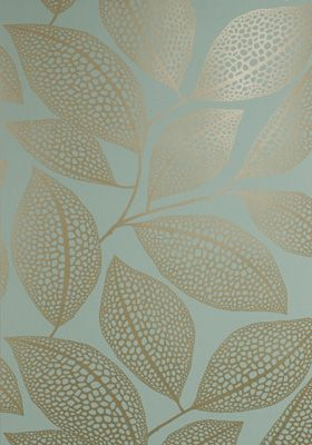 Pebble Leaf Wallpaper Verdigris. I LOVE this Wallpaper so much! I can think of several places in my home I'd want to put it!