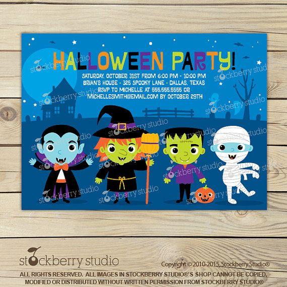halloween party invitations kids halloween party invitation