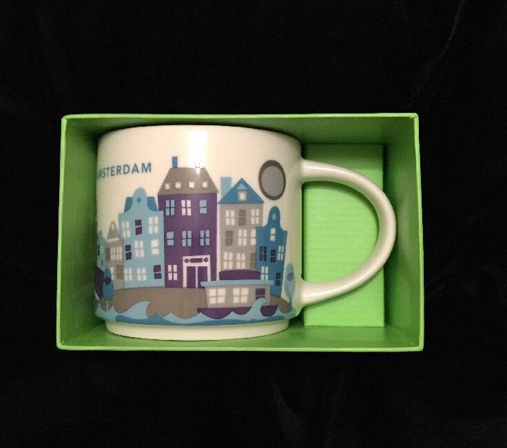 Details about Starbucks Amsterdam YAH Mug Houses Canal Netherlands Coffee Cup You Are Here NewBlue Heaven Vintage