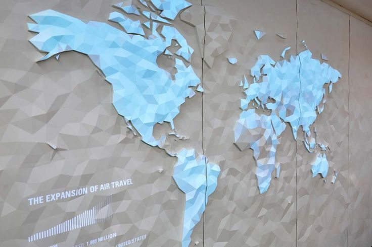 Living Atlas: A sculptural, interactive Corian® mural by The Agency of Design for LSM | Corian