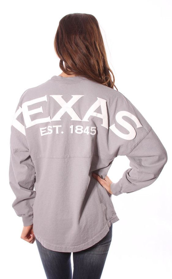 Riffraff | Texas Spirit Jersey - grey ~ I would like it in coral, mint or lilac