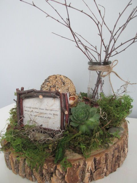 Lord of the Rings/Hobbit inspired centerpieces for Rehearsal Dinner.