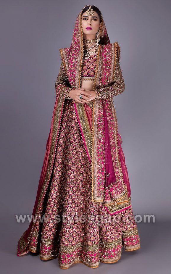 feb65582555 Fahad Hussayn Latest Pakistani Designer Bridal Dresses 2018-19 ...