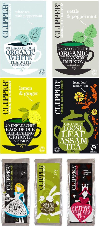 Clipper tea packaging | Edmonton Graphic Designer, Illustrator and Stationery Artist | Victoria Wiercinski